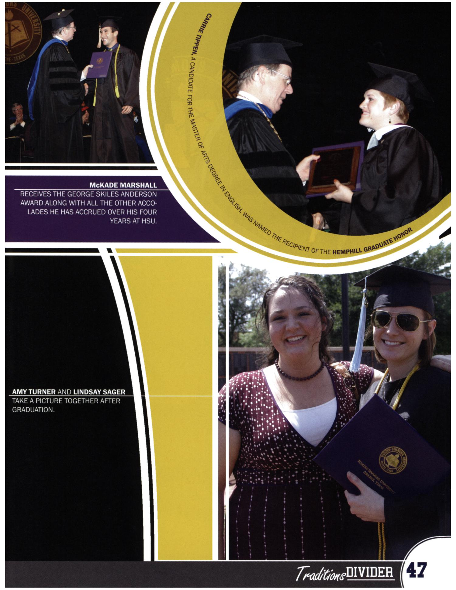 The Bronco, Yearbook of Hardin-Simmons University, 2008                                                                                                      47