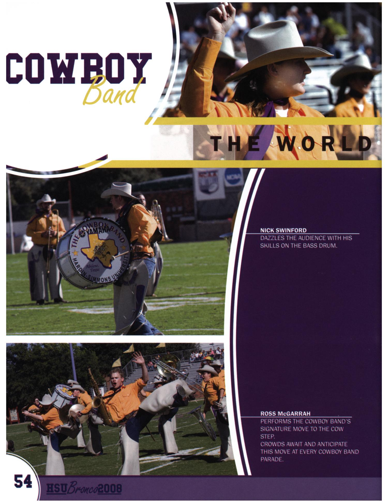 The Bronco, Yearbook of Hardin-Simmons University, 2008                                                                                                      54