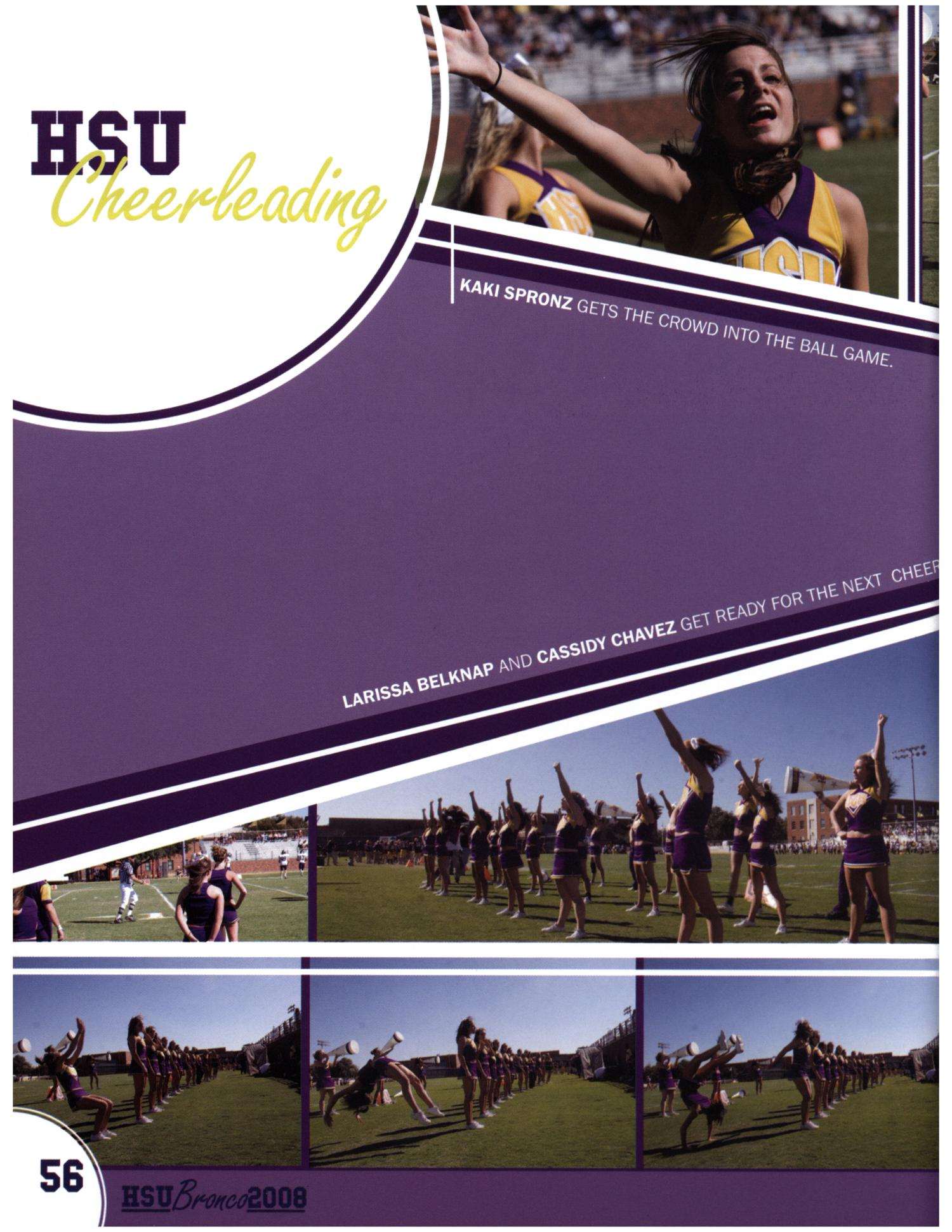 The Bronco, Yearbook of Hardin-Simmons University, 2008                                                                                                      56