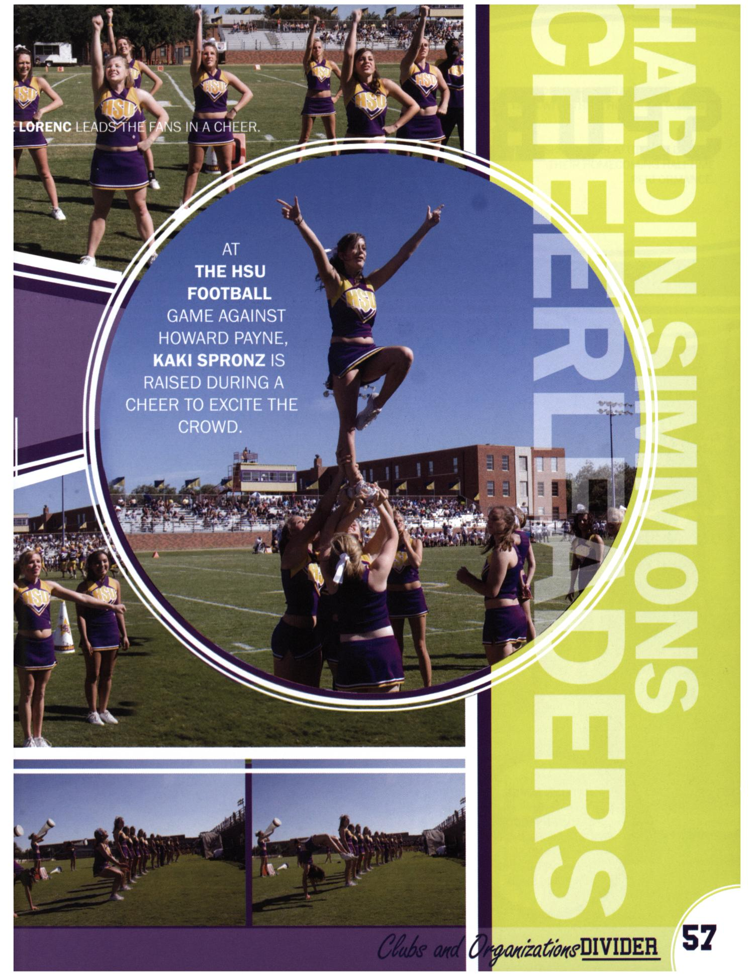 The Bronco, Yearbook of Hardin-Simmons University, 2008                                                                                                      57
