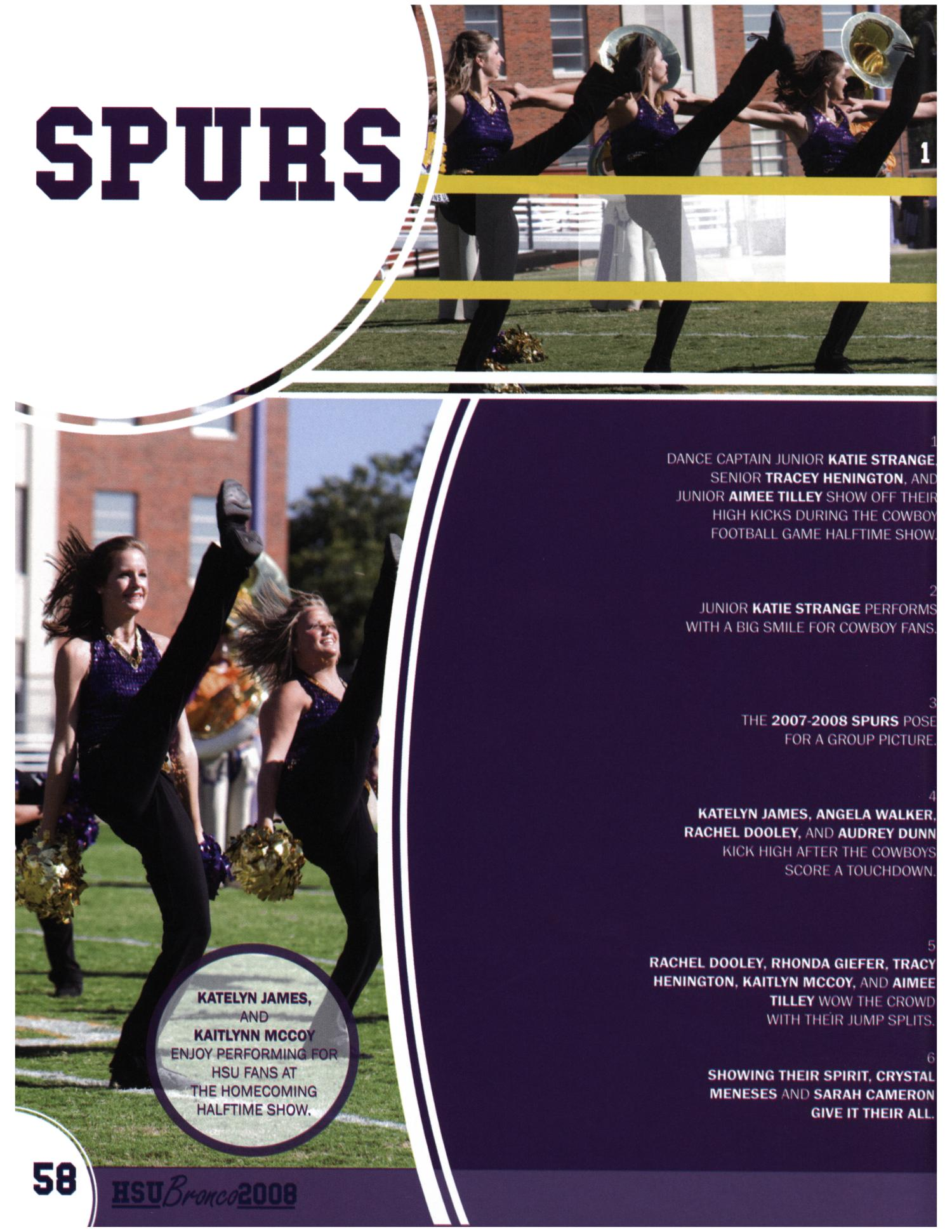 The Bronco, Yearbook of Hardin-Simmons University, 2008                                                                                                      58