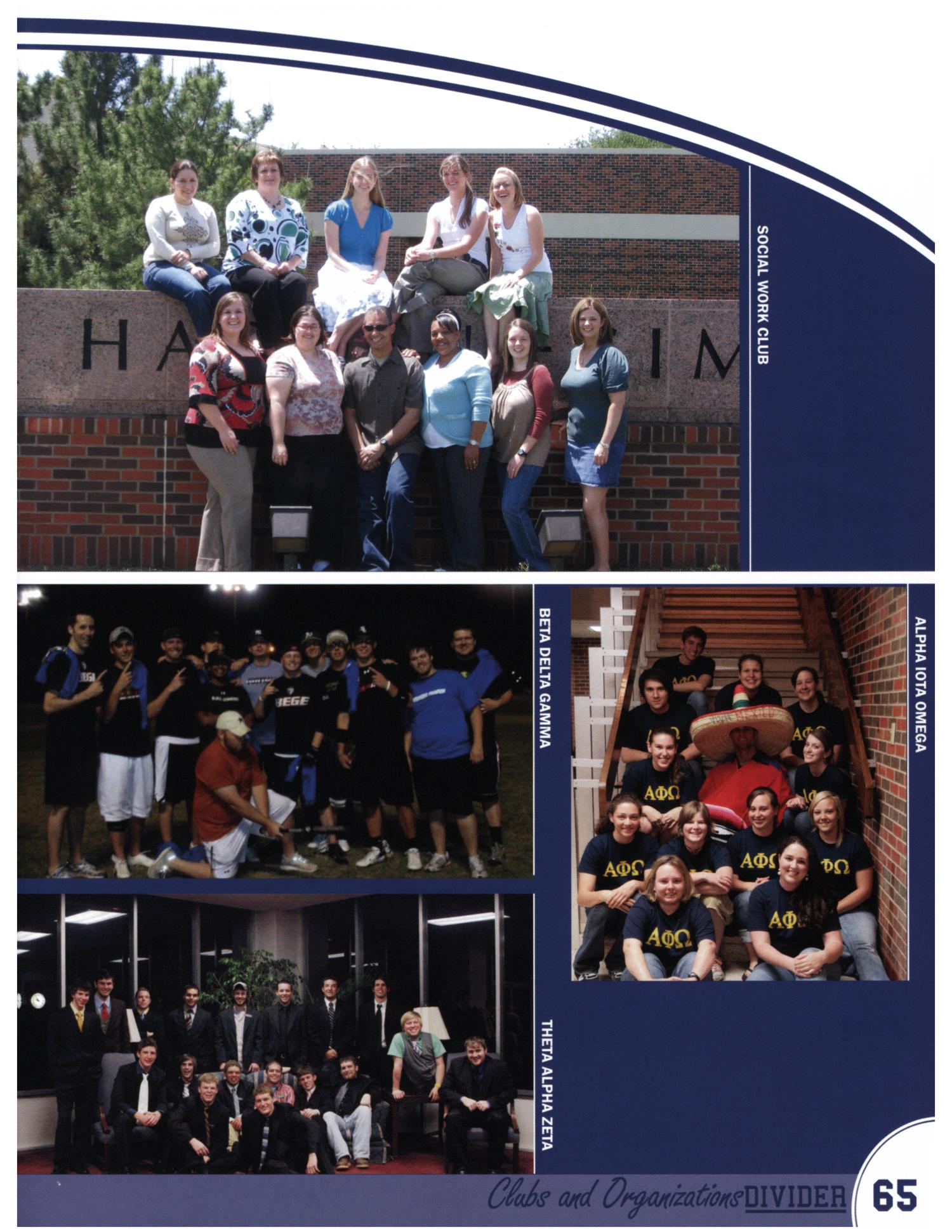 The Bronco, Yearbook of Hardin-Simmons University, 2008                                                                                                      65
