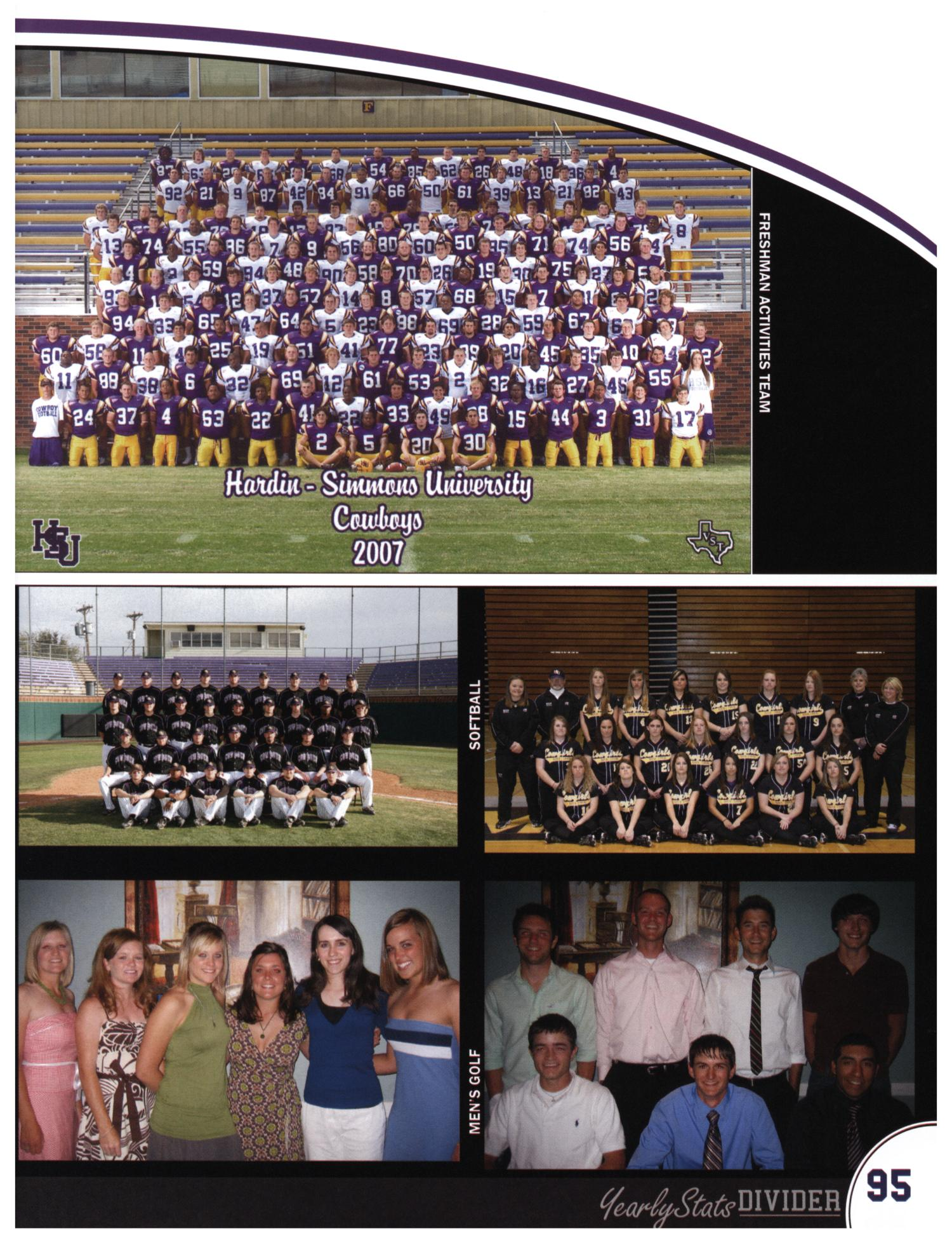 The Bronco, Yearbook of Hardin-Simmons University, 2008                                                                                                      95