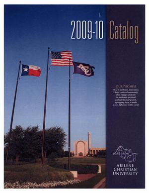 Primary view of object titled 'Catalog of Abilene Christian University, 2009-2010'.