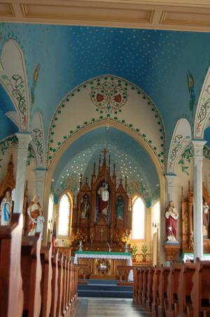 Primary view of object titled 'Sts. Cyril & Methodius Catholic Church, the interior'.