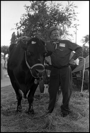 Primary view of object titled '[Jethro Holmes and His Ox]'.