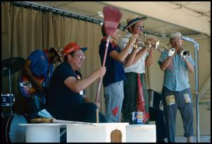 Primary view of object titled '[The Hoboes Musical Performance]'.