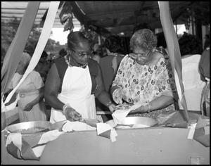 "Primary view of object titled '[African-American ""Soul Food"" Booth]'."