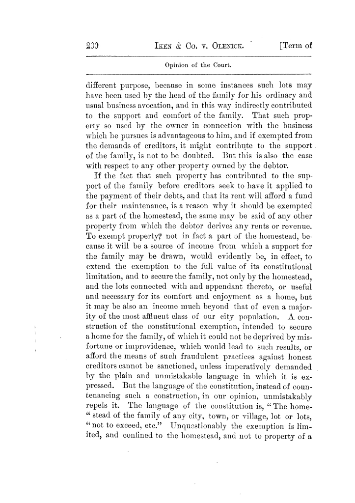 Cases argued and decided in the Supreme Court of Texas, during the latter part of the Tyler term, 1874, and the first part of the Galveston term, 1875.  Volume 42.                                                                                                      200