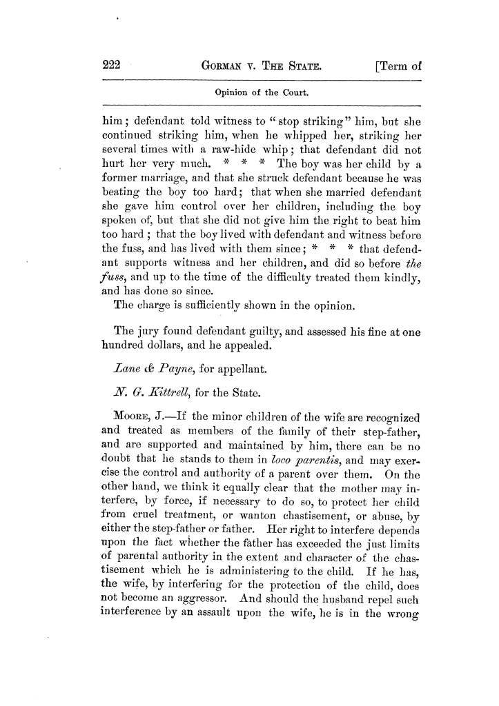 Cases argued and decided in the Supreme Court of Texas, during the latter part of the Tyler term, 1874, and the first part of the Galveston term, 1875.  Volume 42.                                                                                                      222