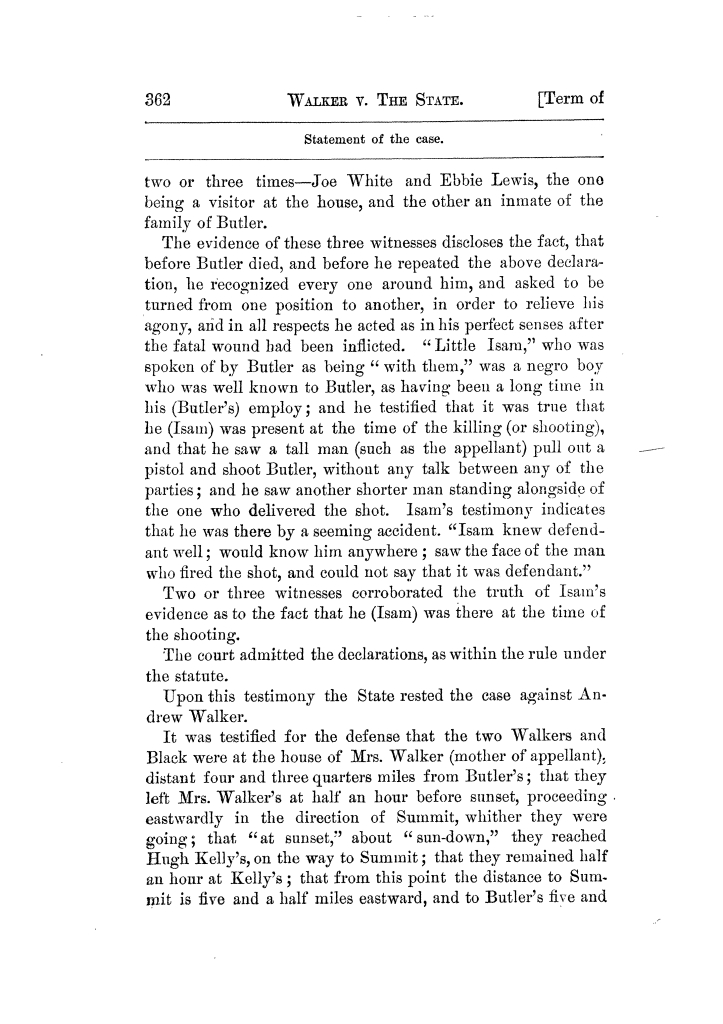 Cases argued and decided in the Supreme Court of Texas, during the latter part of the Tyler term, 1874, and the first part of the Galveston term, 1875.  Volume 42.                                                                                                      362