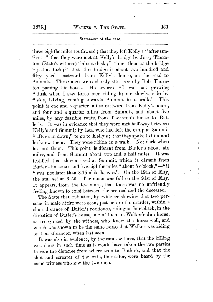 Cases argued and decided in the Supreme Court of Texas, during the latter part of the Tyler term, 1874, and the first part of the Galveston term, 1875.  Volume 42.                                                                                                      363