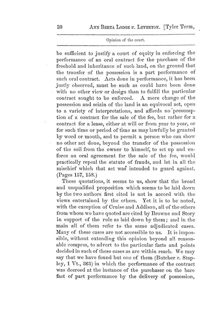 Cases argued and decided in the Supreme Court of Texas, during the latter part of the Tyler term, 1874, and the first part of the Galveston term, 1875.  Volume 42.                                                                                                      30
