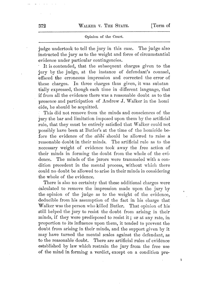 Cases argued and decided in the Supreme Court of Texas, during the latter part of the Tyler term, 1874, and the first part of the Galveston term, 1875.  Volume 42.                                                                                                      372