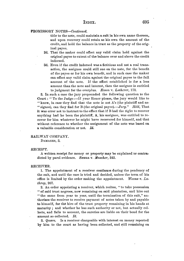 Cases argued and decided in the Supreme Court of Texas, during the latter part of the Tyler term, 1874, and the first part of the Galveston term, 1875.  Volume 42.                                                                                                      695