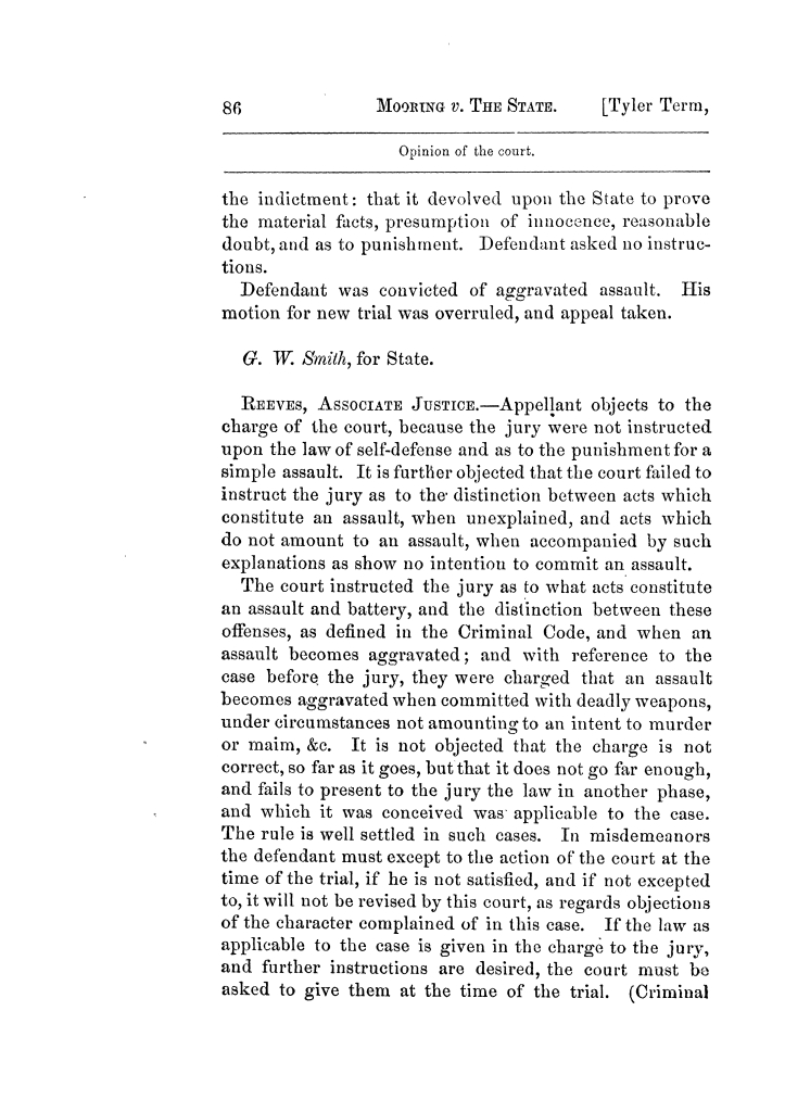 Cases argued and decided in the Supreme Court of Texas, during the latter part of the Tyler term, 1874, and the first part of the Galveston term, 1875.  Volume 42.                                                                                                      86