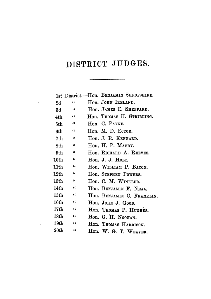 Reports of cases argued and decided in the Supreme Court of the State of Texas, during the Austin session, 1866.  Volume 28.                                                                                                      IV