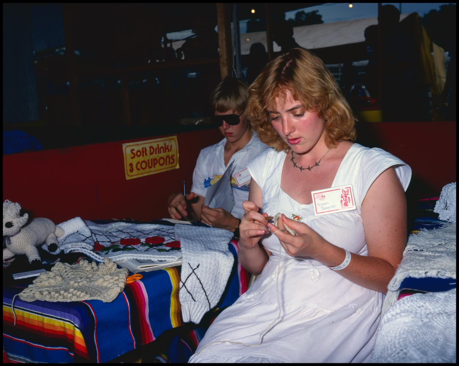 [Suzann Thompson Crocheting A Blanket]                                                                                                      [Sequence #]: 1 of 1
