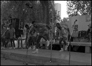 Primary view of object titled '[Texas SouthernUniversity Step-Dance Team Performance]'.