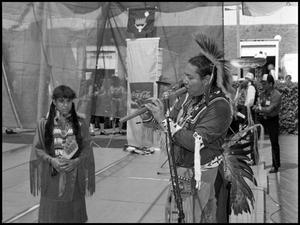 Primary view of object titled '[Texas Indian Heritage Society Musical Performance]'.