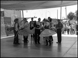 Primary view of object titled '[Czech Folk Dancers of the West Performance]'.
