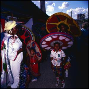 Primary view of object titled '[Children Celebrating Carnival]'.