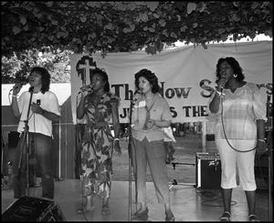 Primary view of object titled '[The Now Singers Performing]'.