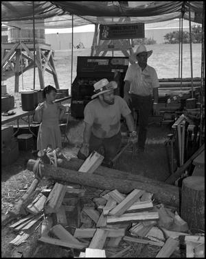 Primary view of object titled '[Men Making Shingles]'.