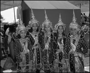 Primary view of object titled '[Cambodian Association of Houston Dancers Posing for a Photo]'.