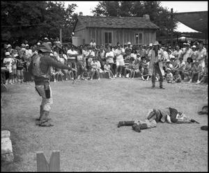 Primary view of object titled '[Texas Professional Gunfighters Performing ]'.