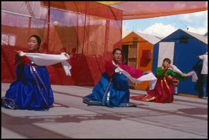 [Korean Folkdancers with Cloth]