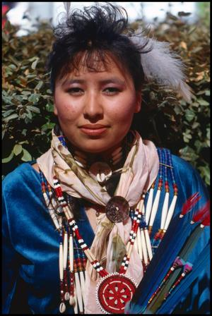 [American Indian Woman in Traditional Clothing]