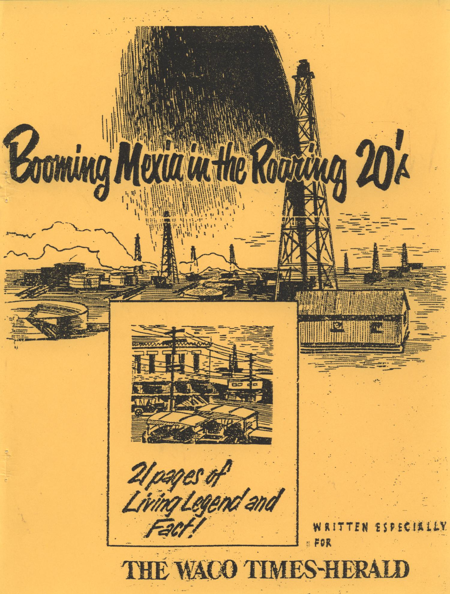 Booming Mexia in the Roaring 20's                                                                                                      Front Cover