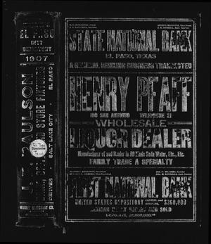 El Paso Directory for 1907