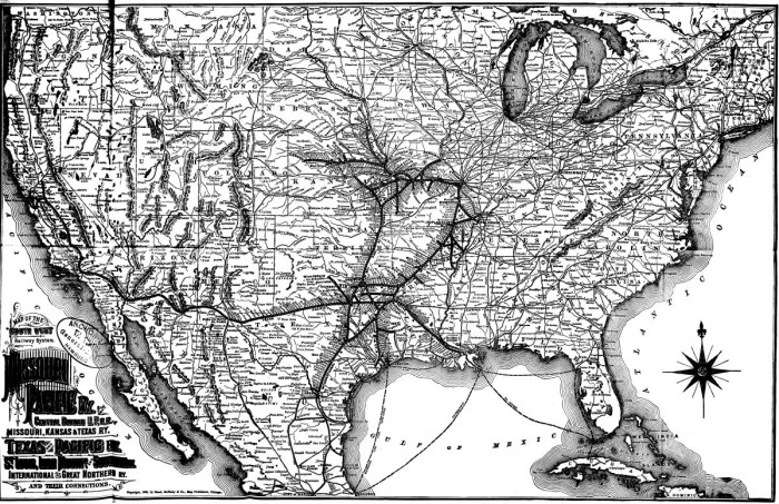 Map of the South West Railway System. Missouri Pacific Ry ...