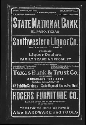 Worley's Directory of El Paso, U. S. A., 1915