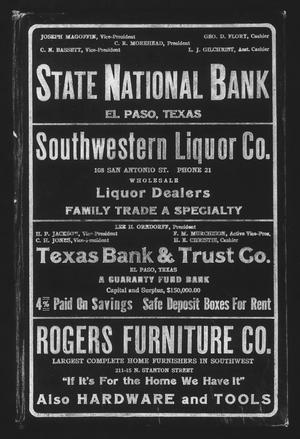 Worley's Directory of El Paso, U. S. A., 1916