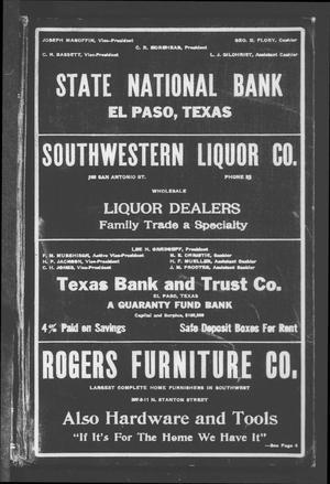 El Paso City Directory, 1917