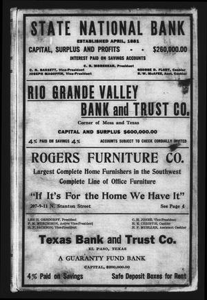 El Paso City Directory, 1919