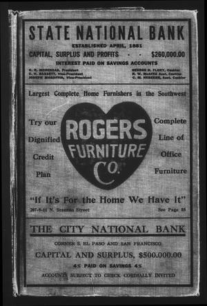 El Paso City Directory, 1920