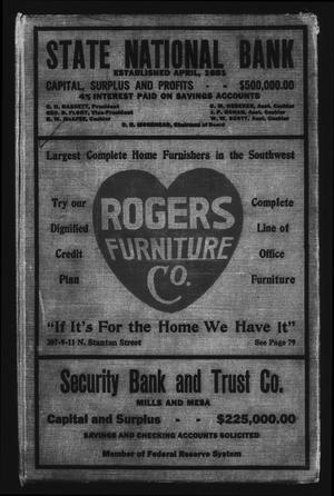 El Paso City Directory, 1921