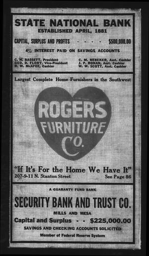 El Paso City Directory, 1922