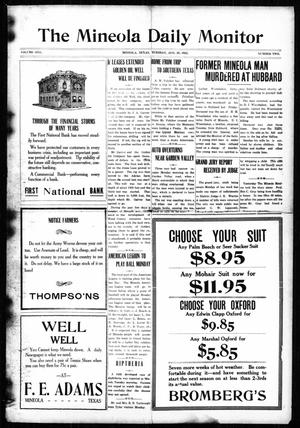 Primary view of object titled 'The Mineola Daily Monitor (Mineola, Tex.), Vol. 1, No. 2, Ed. 1 Tuesday, August 29, 1922'.