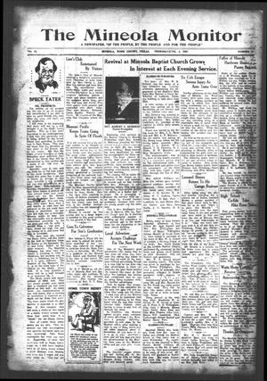 The Mineola Monitor (Mineola, Tex.), Vol. 52, No. 12, Ed. 1 Thursday, June 2, 1927