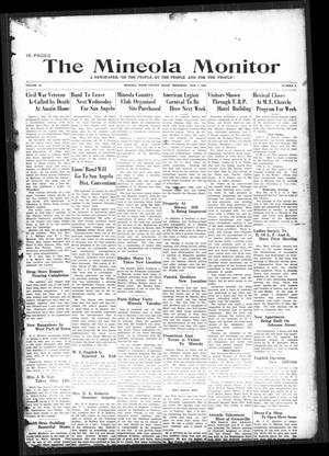 Primary view of object titled 'The Mineola Monitor (Mineola, Tex.), Vol. 54, No. 8, Ed. 1 Thursday, May 2, 1929'.