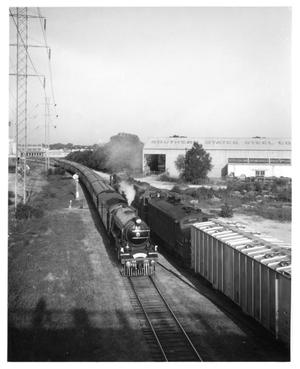 "Primary view of object titled '[""The Flying Scotsman"" leaving Dallas]'."