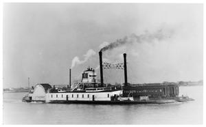 "Primary view of object titled '[""L.S. Thorpe"" crossing the Mississippi]'."