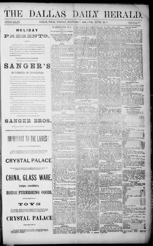 Primary view of object titled 'The Dallas Daily Herald. (Dallas, Tex.), Vol. 28, No. 9, Ed. 1 Tuesday, December 7, 1880'.