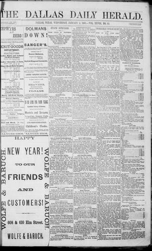 Primary view of object titled 'The Dallas Daily Herald. (Dallas, Tex.), Vol. 28, No. 33, Ed. 1 Wednesday, January 5, 1881'.