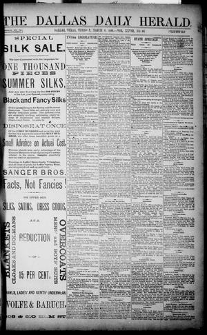 Primary view of object titled 'The Dallas Daily Herald. (Dallas, Tex.), Vol. XXIVII, No. 86, Ed. 1 Tuesday, March 8, 1881'.